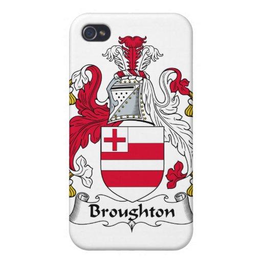 Escudo de la familia de Broughton iPhone 4 Protector