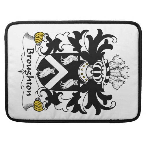 Escudo de la familia de Broughton Funda Macbook Pro