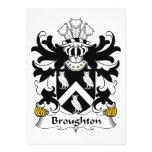 Escudo de la familia de Broughton Invitacion Personalizada