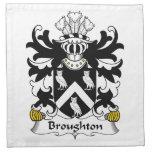 Escudo de la familia de Broughton Servilleta Imprimida