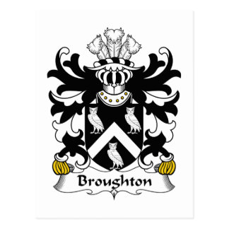 Escudo de la familia de Broughton Tarjetas Postales