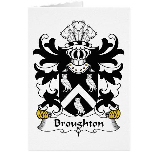Escudo de la familia de Broughton Tarjetón