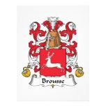 Escudo de la familia de Brousse Invitación Personalizada
