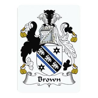"""Escudo de la familia de Brown Invitación 5"""" X 7"""""""