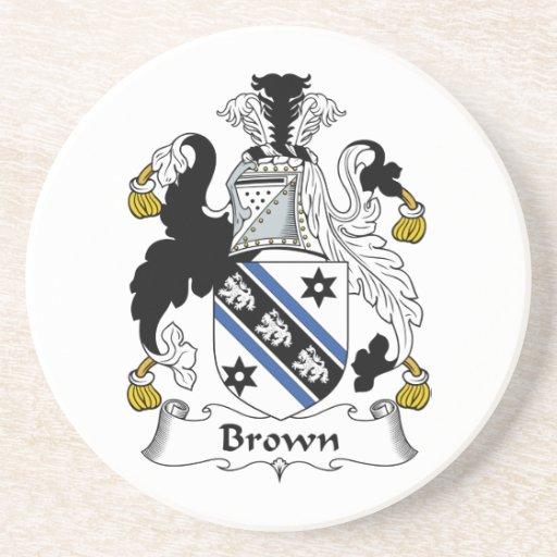 Escudo de la familia de Brown Posavaso Para Bebida