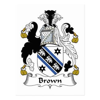 Escudo de la familia de Brown Postales