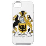 Escudo de la familia de Browne iPhone 5 Case-Mate Carcasa