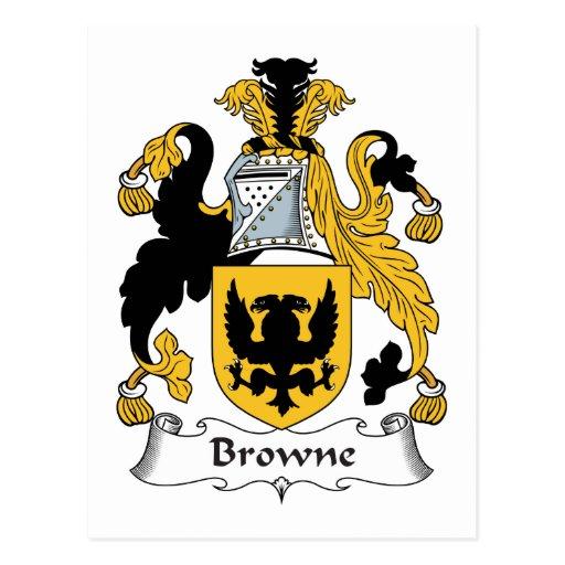 Escudo de la familia de Browne Postal