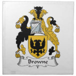 Escudo de la familia de Browne Servilleta
