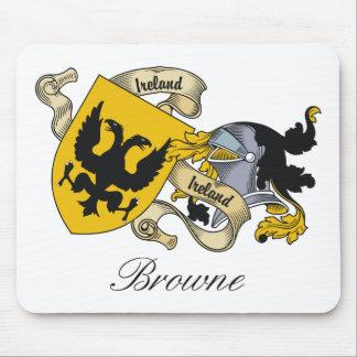 Escudo de la familia de Browne Tapetes De Ratones
