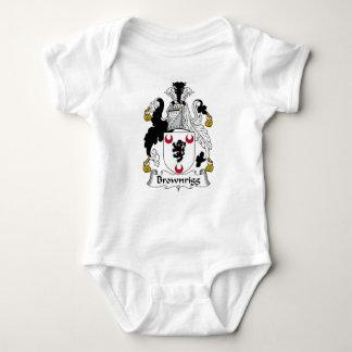 Escudo de la familia de Brownrigg Body Para Bebé