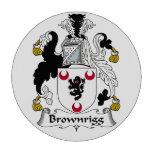 Escudo de la familia de Brownrigg Fichas De Póquer