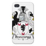 Escudo de la familia de Brownrigg iPhone 4/4S Fundas