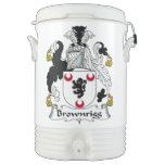 Escudo de la familia de Brownrigg Vaso Enfriador Igloo