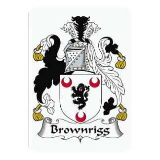 """Escudo de la familia de Brownrigg Invitación 5"""" X 7"""""""