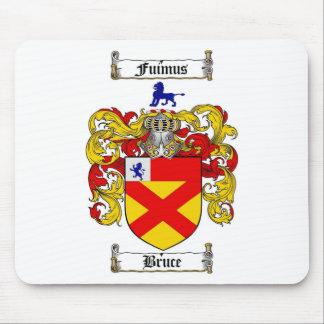 ESCUDO DE LA FAMILIA DE BRUCE - ESCUDO DE ARMAS DE TAPETES DE RATON