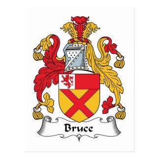 Escudo de la familia de Bruce Tarjeta Postal
