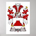 Escudo de la familia de Brug Poster