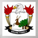 Escudo de la familia de Brune Impresiones