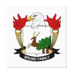 Escudo de la familia de Brune Impresión En Lona Estirada