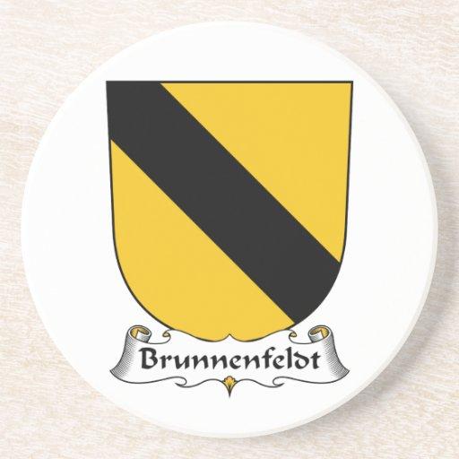 Escudo de la familia de Brunnenfeldt Posavasos Personalizados