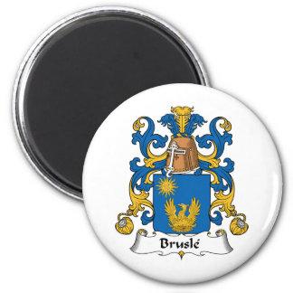 Escudo de la familia de Brusle Imán Redondo 5 Cm