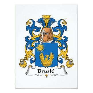 """Escudo de la familia de Brusle Invitación 6.5"""" X 8.75"""""""