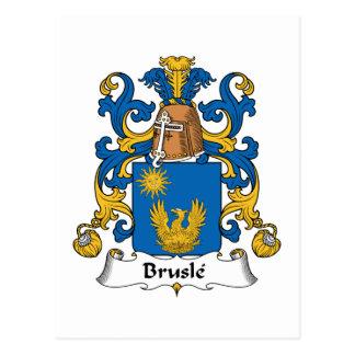 Escudo de la familia de Brusle Postales