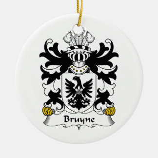 Escudo de la familia de Bruyne Adorno Navideño Redondo De Cerámica
