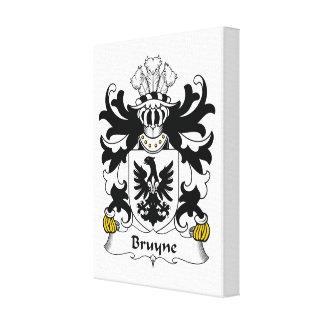 Escudo de la familia de Bruyne Impresión En Tela