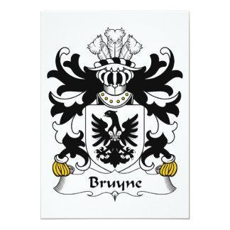 """Escudo de la familia de Bruyne Invitación 5"""" X 7"""""""