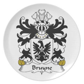 Escudo de la familia de Bruyne Plato De Cena