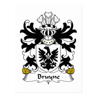 Escudo de la familia de Bruyne Postales