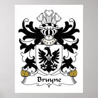 Escudo de la familia de Bruyne Póster