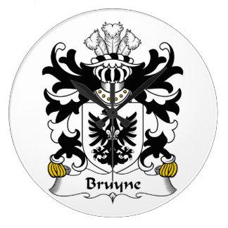 Escudo de la familia de Bruyne Reloj Redondo Grande