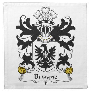 Escudo de la familia de Bruyne Servilleta Imprimida