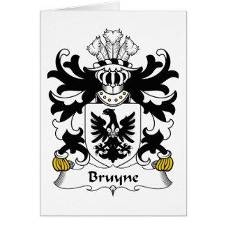 Escudo de la familia de Bruyne Tarjeta De Felicitación