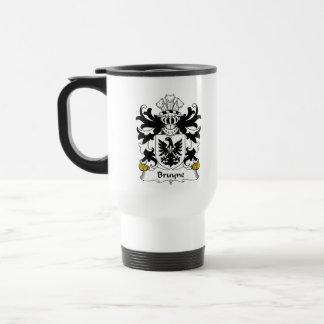 Escudo de la familia de Bruyne Tazas De Café