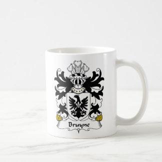 Escudo de la familia de Bruyne Taza Básica Blanca