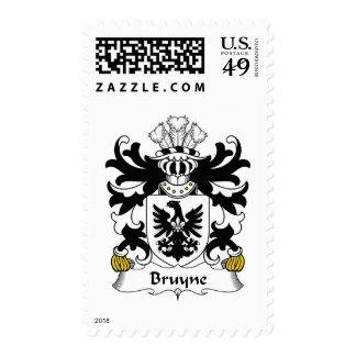 Escudo de la familia de Bruyne Timbre Postal