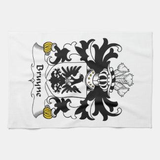 Escudo de la familia de Bruyne Toallas De Cocina