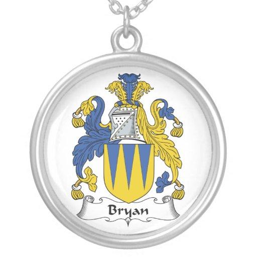 Escudo de la familia de Bryan Colgante Redondo