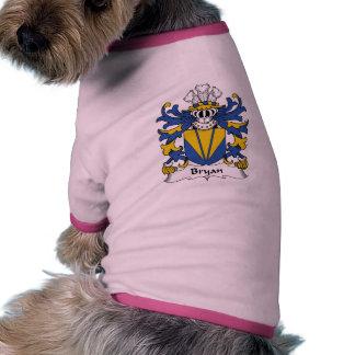 Escudo de la familia de Bryan Camiseta Con Mangas Para Perro
