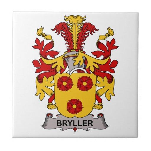Escudo de la familia de Bryller Azulejo Ceramica