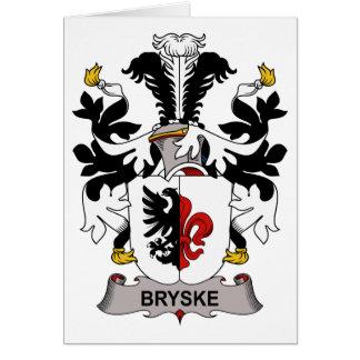 Escudo de la familia de Bryske Tarjeta De Felicitación