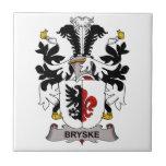 Escudo de la familia de Bryske Tejas Ceramicas