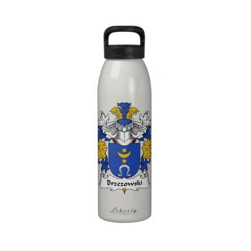 Escudo de la familia de Brzezowski Botella De Agua Reutilizable
