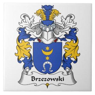 Escudo de la familia de Brzezowski Azulejo Cuadrado Grande