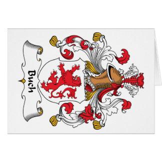 Escudo de la familia de Buch Tarjeta De Felicitación