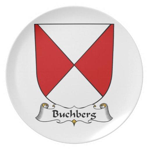 Escudo de la familia de Buchberg Plato Para Fiesta